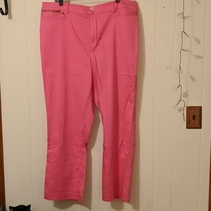 Lauren by RL bubblegum pink straight leg pant 20w